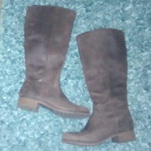 Dark Brown Knee Boots